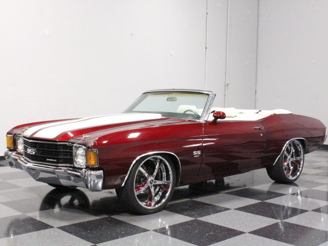 1972 Chevrolet Chevelle, custom painted drop top, 454 drenched in chrome