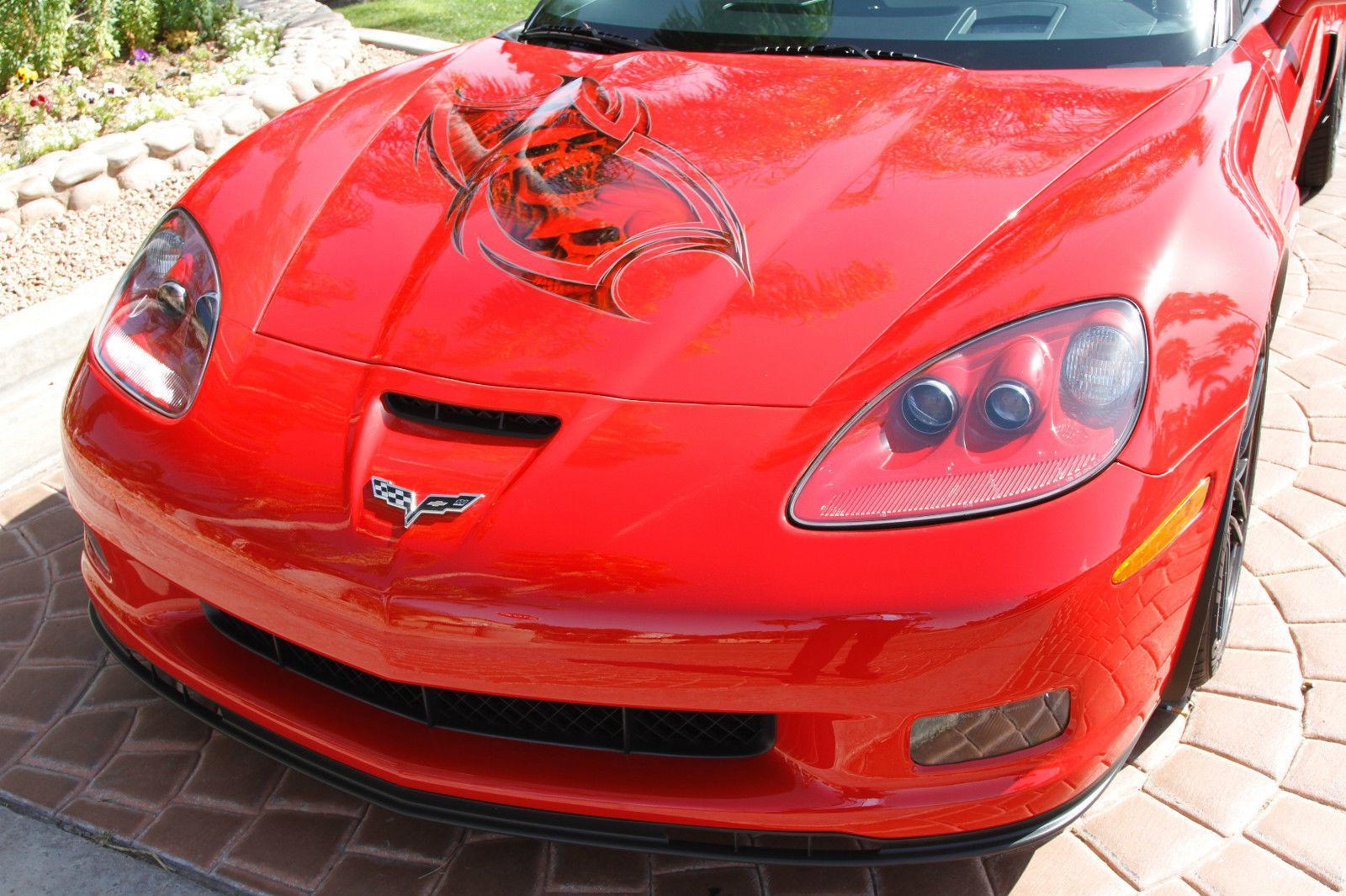 2008 chevrolet corvette z06 airbrushed for sale. Black Bedroom Furniture Sets. Home Design Ideas