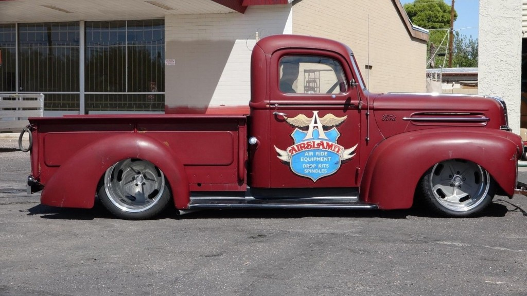 1947 ford jailbar 1/2 ton pickup hot rod