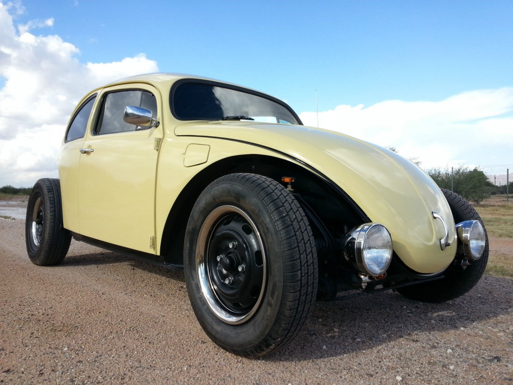 1975 VW Beetle Volksrod Custom Chopped Stretched Black & Tan 2110 Engine