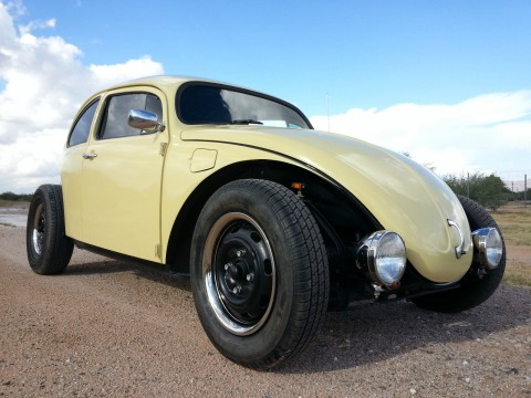 1975 VW Beetle Volksrod Custom Chopped Stretched Black & Tan 2110 Engine for sale