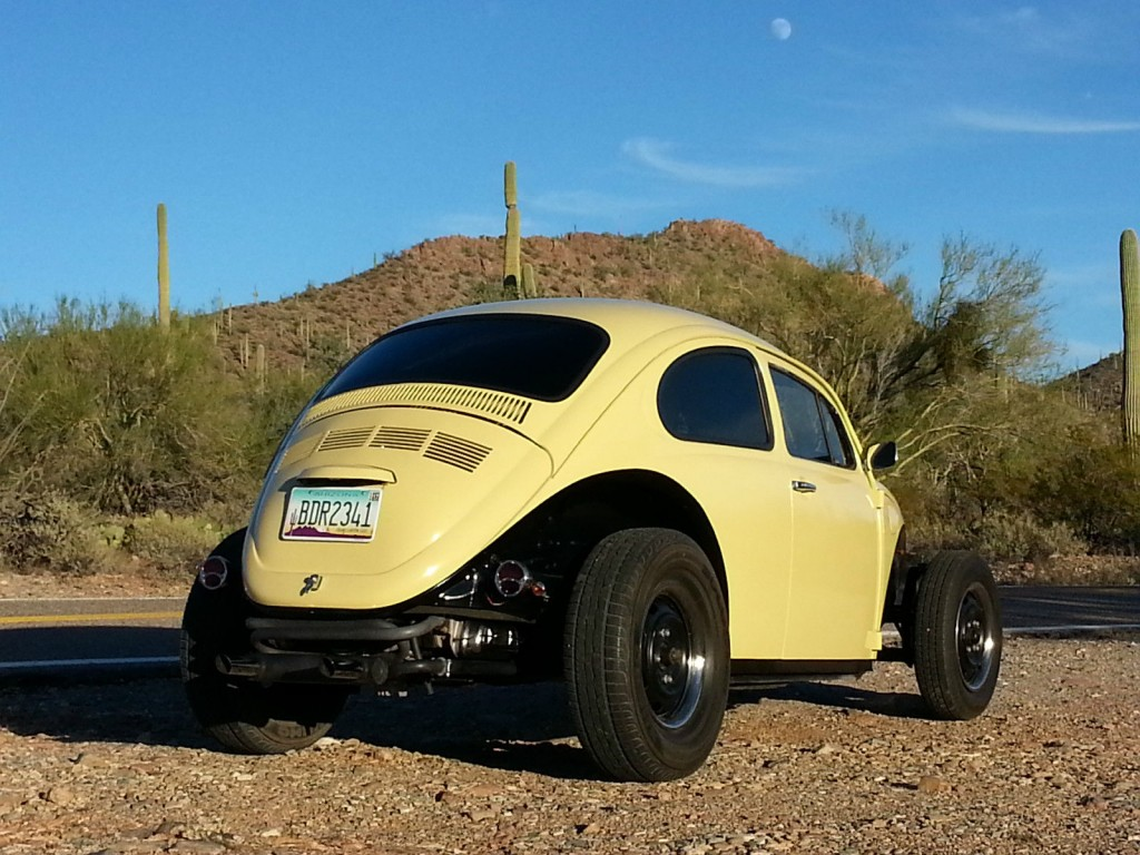 Extended Hood For Sale >> 1975 VW Beetle Volksrod Custom Chopped Stretched Black & Tan 2110 Engine for sale