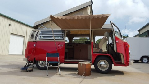 1976 VW Bus Camper Westfalia Pop Top Campmobile Westy Pop Up Van RV for sale