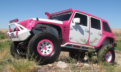 2015 Jeep Wrangler Rubicon Pink & White Custom Bad Boy Jeep for sale
