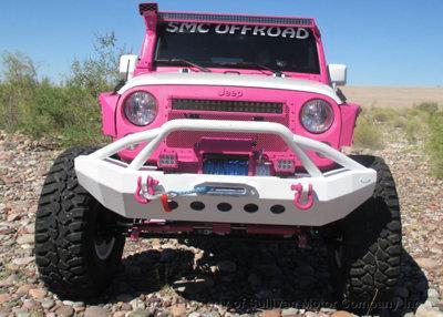 2015 Jeep Wrangler Rubicon Pink & White Custom Bad Boy Jeep
