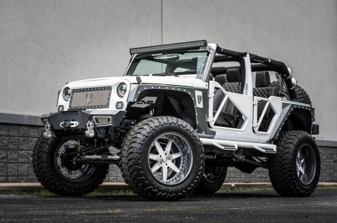 2015 jeep wrangler rubicon pink white custom bad boy jeep for sale. Black Bedroom Furniture Sets. Home Design Ideas