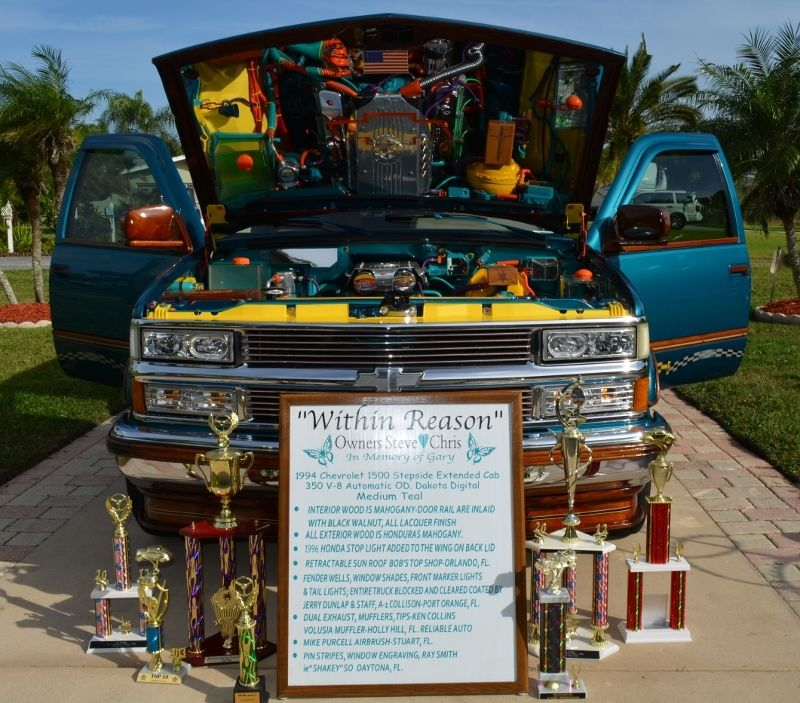One of a kind 1994 Chevrolet 1500 Extended Cab Show Car Custom wood and painting