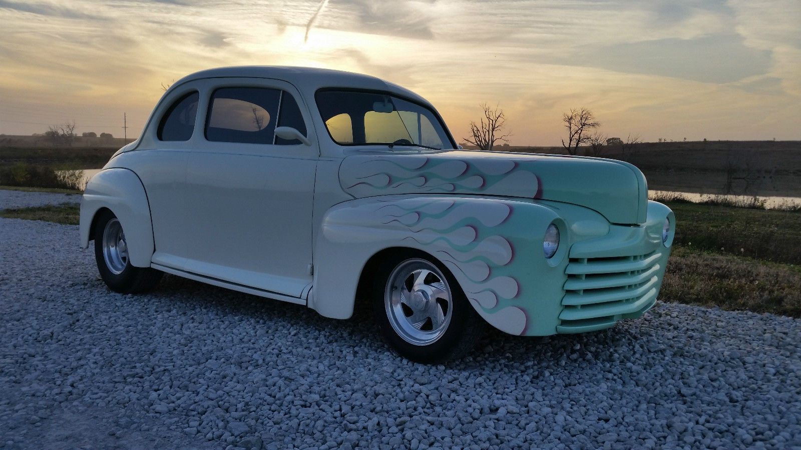 1948 ford custom coupe street rod for sale