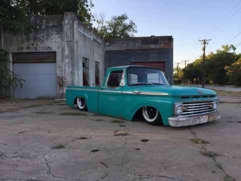 1963 Ford F 100 Speed shop Bagged Patina Chevy shop truck for sale