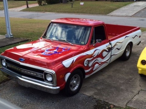 "1970 Chevy C10 Custom Long Bed ""Pro Street"" Show Truck for sale"