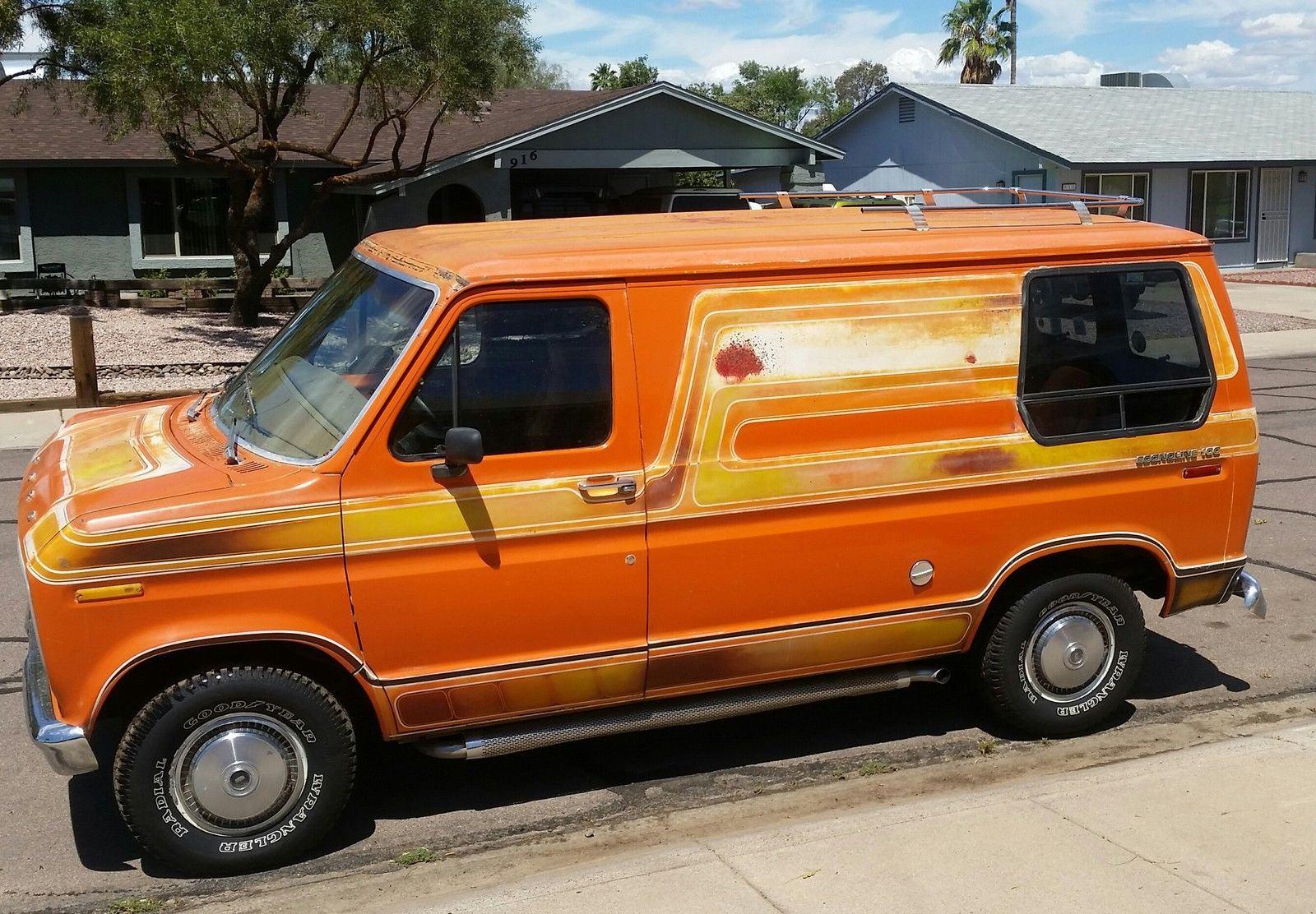 1976 ford e100 econoline short original 70s custom show van for sale. Black Bedroom Furniture Sets. Home Design Ideas