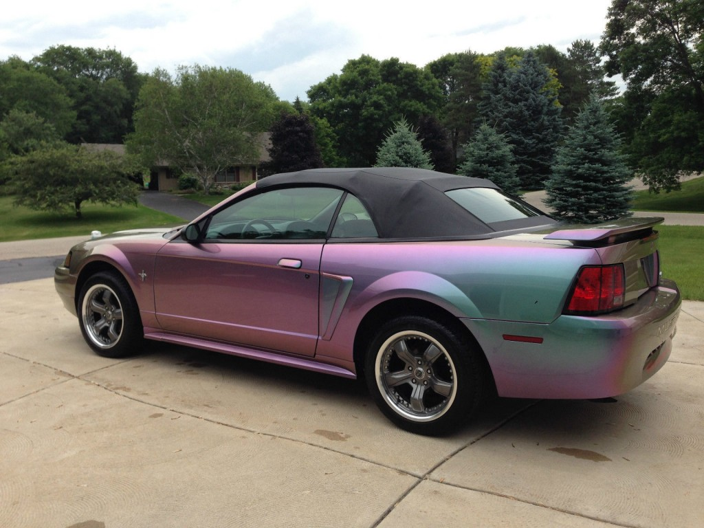 2002 Ford Mustang Convertible with Incredible Custom Color Changing Paint Job