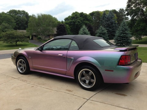 2002 Ford Mustang Convertible with Incredible Custom Color Changing Paint Job for sale