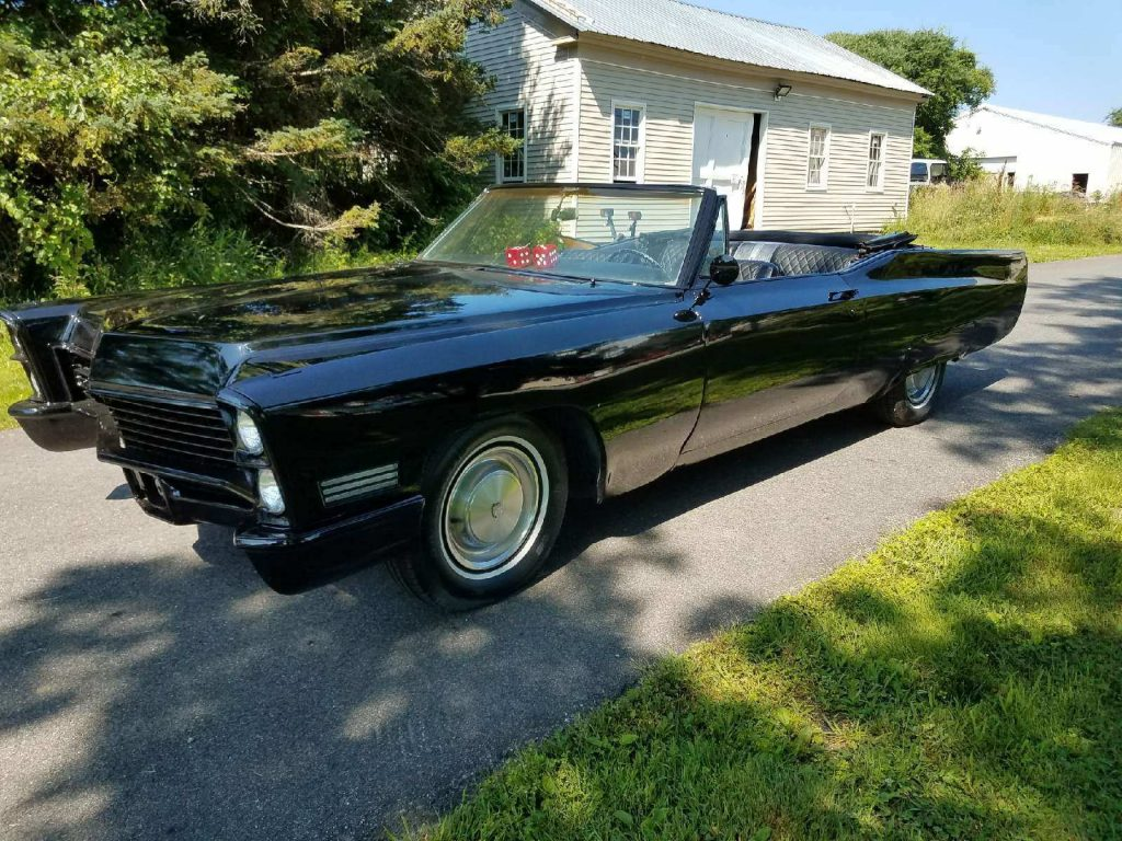 All black 1967 Cadillac Deville convertible custom