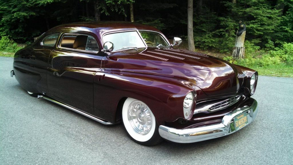 Flathead engine 1950 Mercury custom lead sled