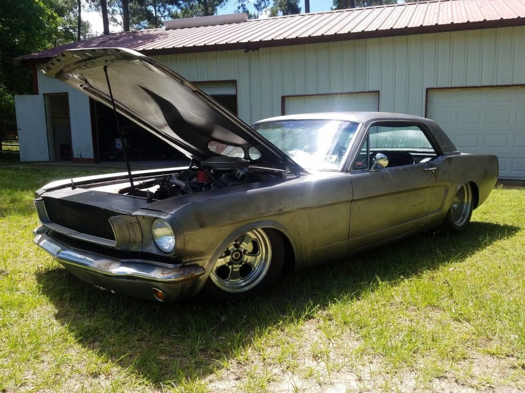 bare metal 1965 Ford Mustang Coupe custom