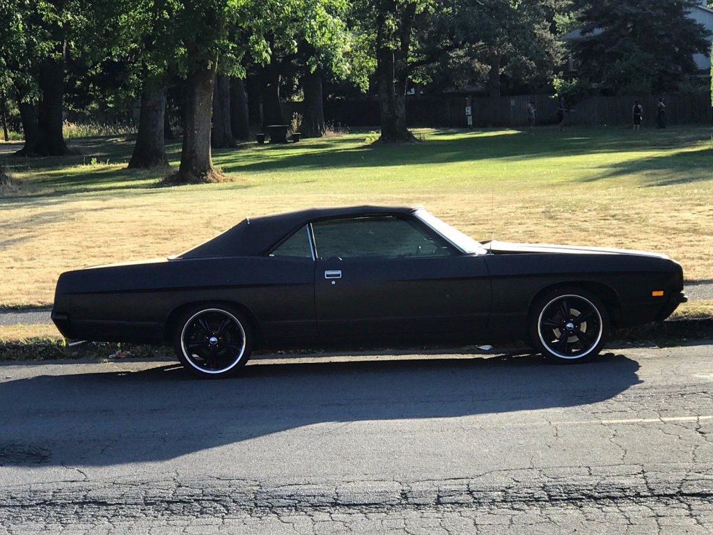 black on black 1971 Ford LTD custom