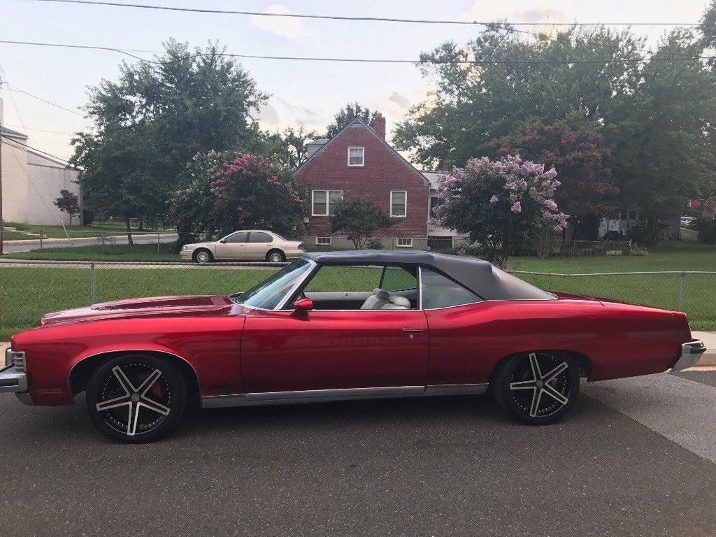 custom wheels 1973 Pontiac Grand Ville Convertible custom