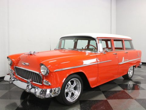 few modifications 1955 Chevrolet Bel Air Wagon custom for sale