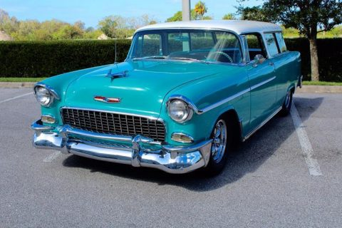 modern modifications 1955 Chevrolet Nomad Wagon for sale