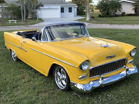 restomod 1955 Chevrolet Bel Air convertible custom for sale
