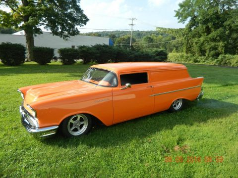 chopped 1957 Chevrolet Sedan DELIVERY custom for sale