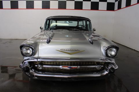 modernized 1957 Chevrolet Nomad 327 custom for sale