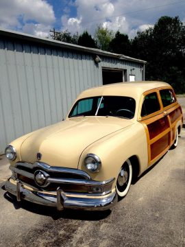 modern engine 1950 Ford Ranch Wagon Restored custom for sale
