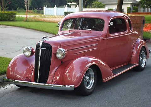 nicely restored 1936 Chevrolet Master Deluxe Business Coupe custom for sale