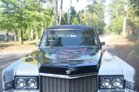 rat rod hearse 1970 Cadillac Fleetwood M&M custom for sale
