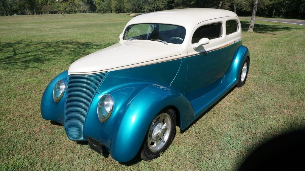 chopped 1937 Ford Sedan custom