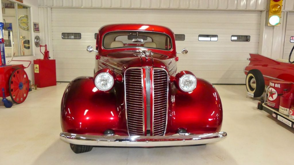 nicely modified 1937 Dodge Business Coupe custom
