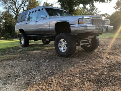 lifted 1990 Cadillac Brougham Superior Hearse custom for sale