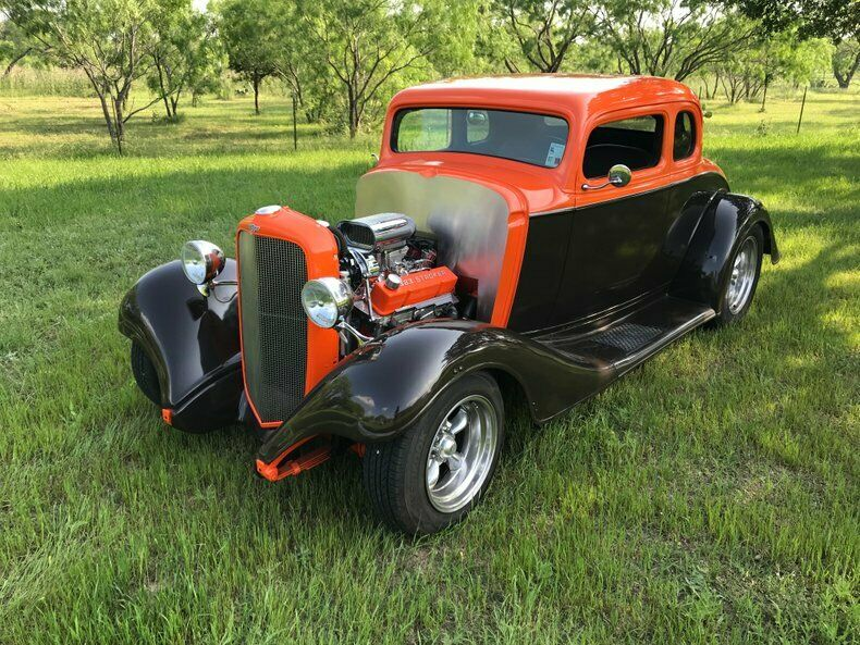 383 stroker 1933 Chevrolet 5 Window Coupe custom