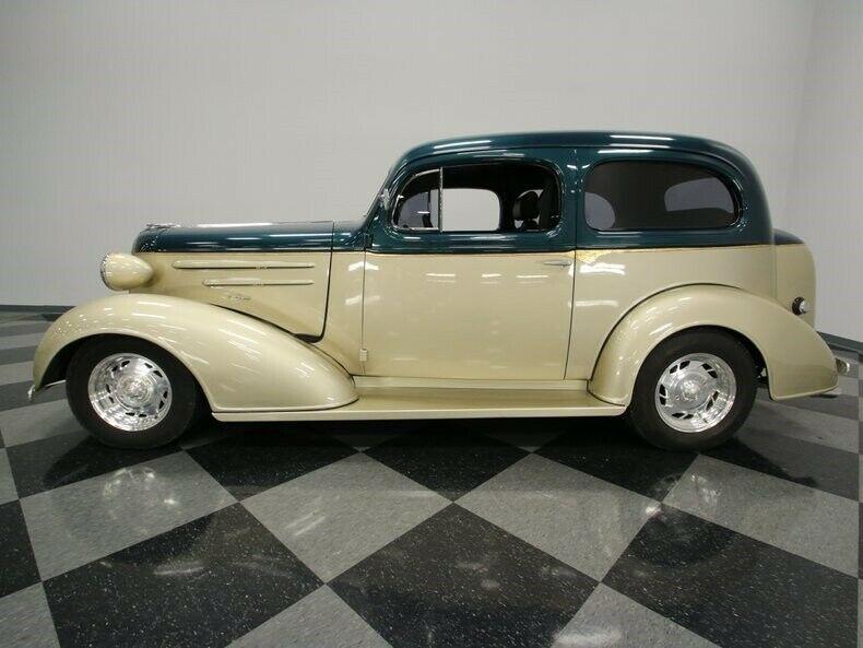 bored small block 1936 Chevrolet Streetrod custom