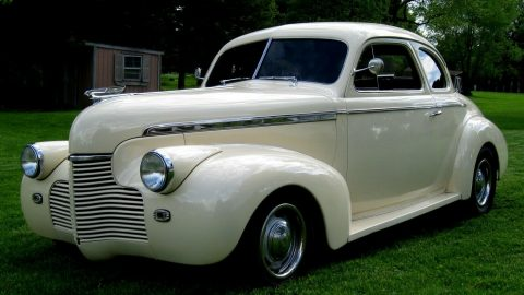 ivory beauty 1940 Coupe Super Deluxe Steel custom for sale