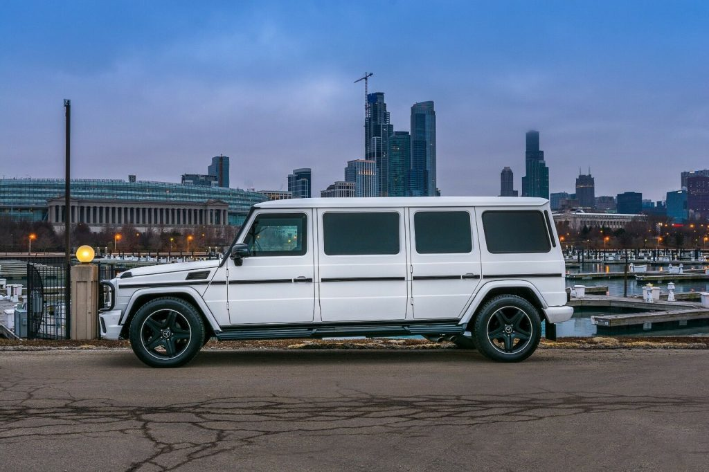 stretched 2004 Mercedes Benz G Class G55 AMG custom