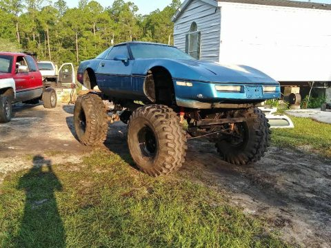 monster truck project 1990 Chevrolet Corvette custom for sale
