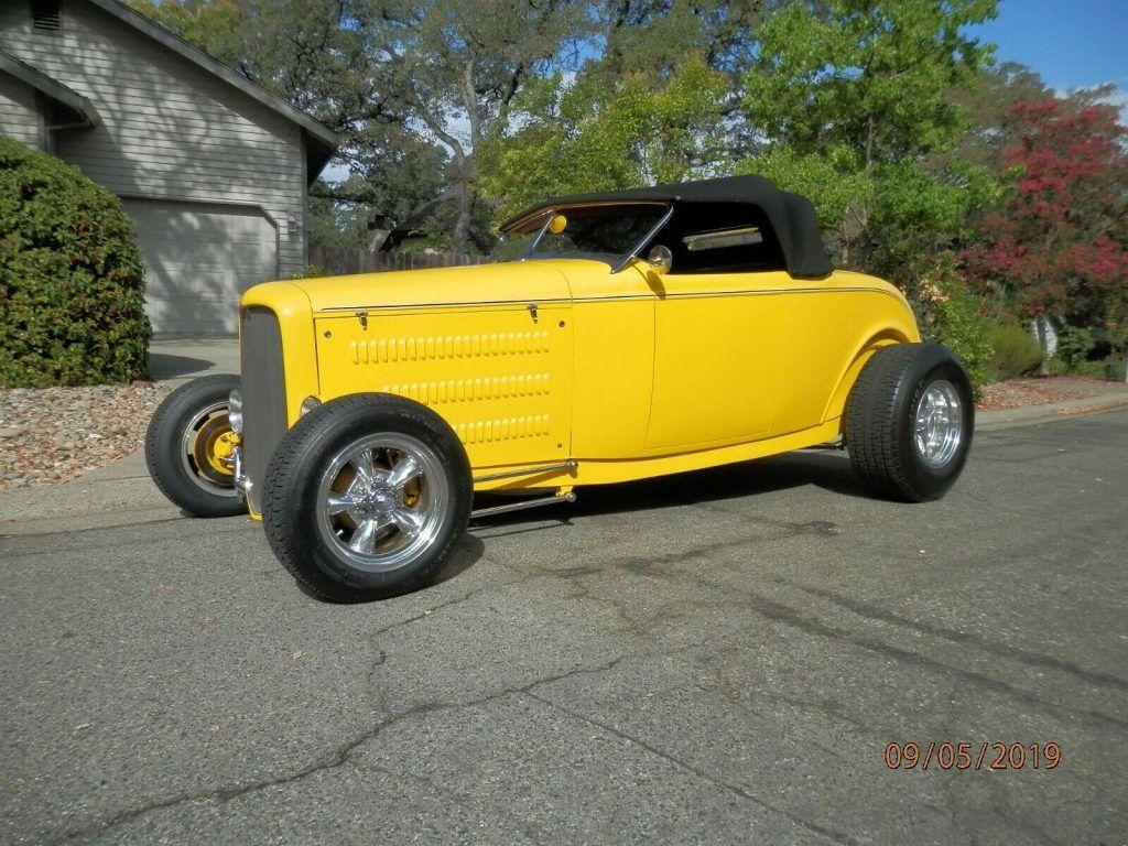 yellow beast 1932 Ford Roadster custom