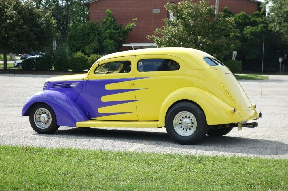 well modified 1937 Ford custom