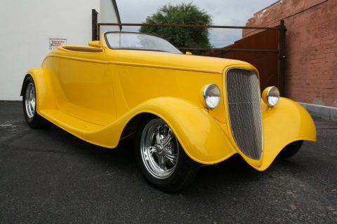 yellow beast 1933 Ford 40 Roadster custom for sale
