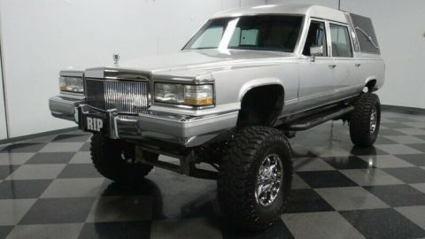 monster 1990 Cadillac Brougham Hearse custom for sale