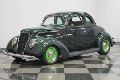 shiny 1937 Ford Coupe custom for sale